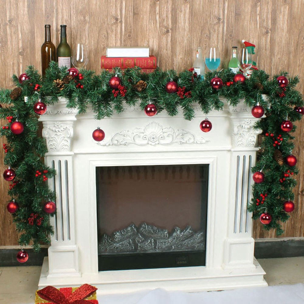 Details About 2 7m 9ft Christmas Garland Fireplace Imperial Pine Wreath Decorations Xmas Kj