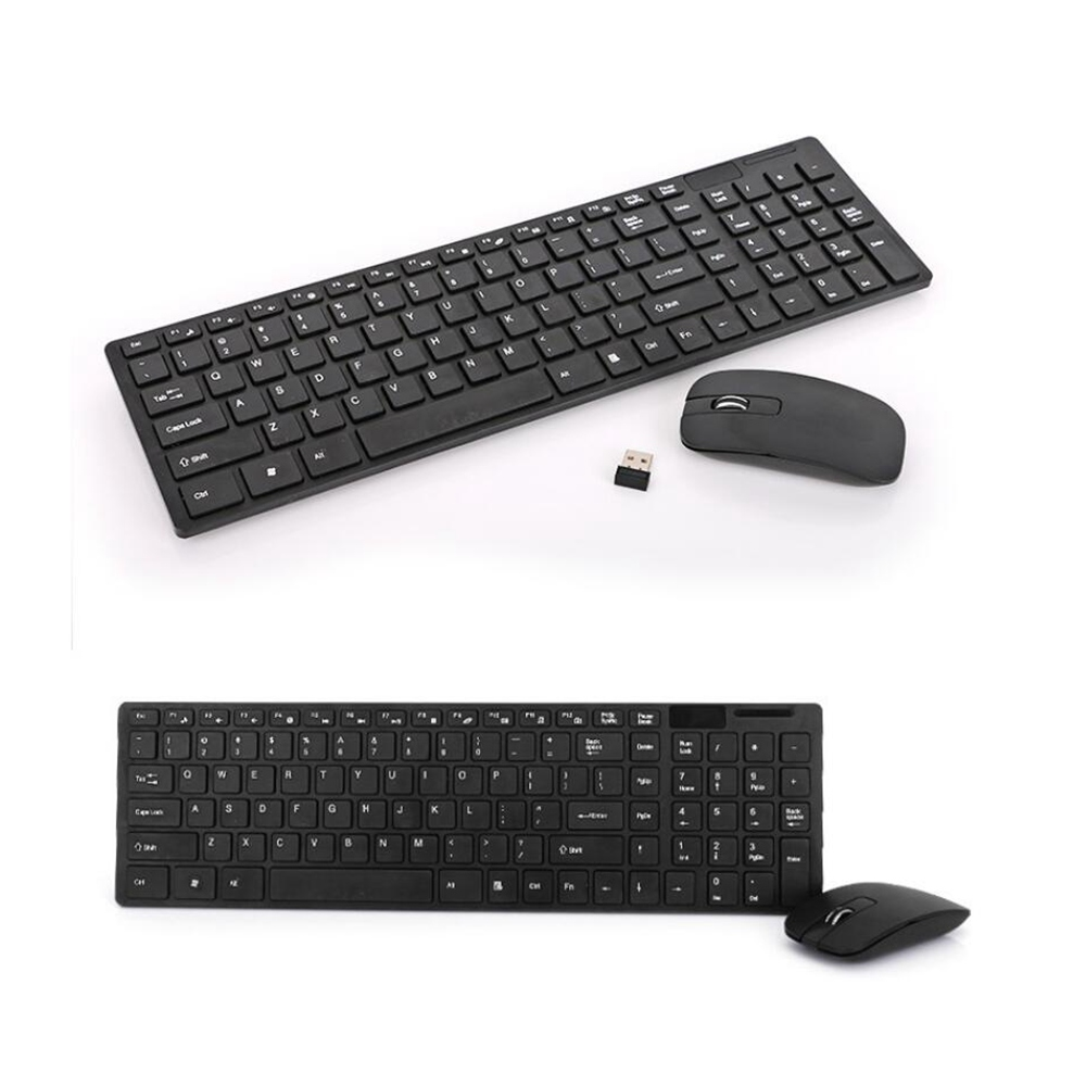 Black Wireless Mini Ultra Slim Keyboard and Mouse For Easy Smart TV Contol for Sony XBR-55X850B Smart TV